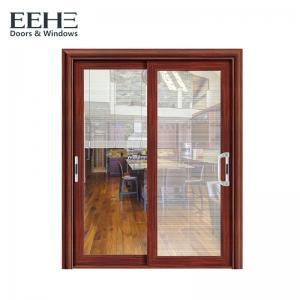 China Horizontal 3 Panel Aluminium Sliding Door / Single Rail Aluminium Exterior Doors wholesale