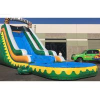 China Outdoor Summer Cool Inflatable Water Slide And Pool 9Mx 3M X 5M Easy Installation wholesale