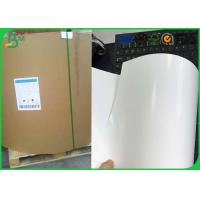 China Jumbo Roll One Side Coated Ivory Board , 230gsm 250gsm C1S Ivory Board wholesale