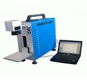 China Portable Fiber Laser Marking Machine for Auto Parts / Hardware Marking Power 30W wholesale