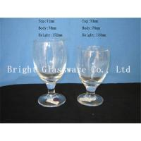 Quality clear Water Goblets, wine goblet glass sale for sale