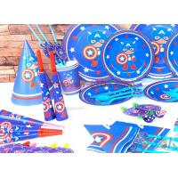 China Captain America New Kids Birthday Party Decoration Set Birthday brown bear Theme Party Supplies Baby Party set wholesale