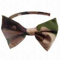 Buy cheap Headband with Polyester Bow and Military Pattern, Excellent Quality from wholesalers