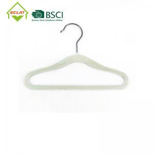 China Non Slip Ultra Thin Slim Velvet Hangers With Steel Swivel Chrome Hooks wholesale