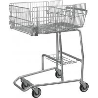 China Low Carbon Steel Wire Basket Disabled Shopping Trolley For Old / Disability Persons wholesale
