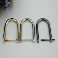 China Custom made big zinc alloy 28 mm removable metal D ring buckle with polishing wholesale