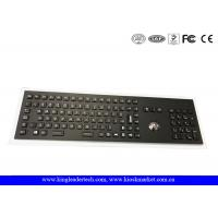 China Industrial Trackball And Backlight Electroplated Black Metal Keyboard With Full Keys wholesale