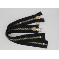 China Gold Euro Teeth 36 Inch Heavy Duty Metal Zippers 10 # 12 # For Luggage / Shoes wholesale