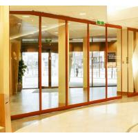 China Aluminum Frameless Operable Sliding Glass Partition Wall 12mm Thickness wholesale