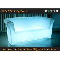 Color Change RGB LED Sofa / Battery Operated Light Sofa Set With Remote Control , Eco Friendly Manufactures