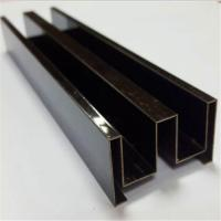China Brushed Finish Bronze Stainless Steel Angle U Shape Trim 201 304 316 wholesale
