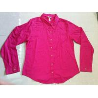 China wholesale solid color women blouse ,autumn tops, Career's office ladies shirts stock lots wholesale