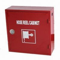 China Fire hose reel cabinet, measures 700 x 700 x 255mm on sale