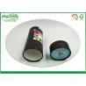 China Black Kraft Paper Tube Packaging , Custom Logo Cardboard Tubes With Lids wholesale