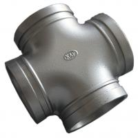 China High End Ductile Iron Pipe Fittings , Grooved Pipe Couplings Equal Cross Epoxy wholesale