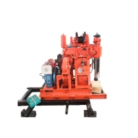 China Hydraulic Diesel 100m Portable Water Drilling Machine on sale