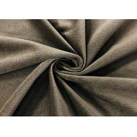 China 240GSM Microfiber Velvet Fabric 100% Polyester Burnt Out Wavy Grain Olive Brown on sale