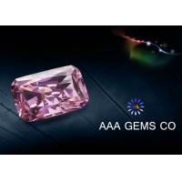 China Custom Pink Moissanite Loose Stones Radiant Cutting 5mm x 7mm wholesale