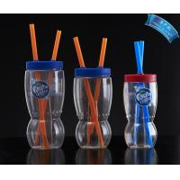China Lovely Kids Plastic Cups Drinking Cups,Plastic Drinking Cup with Lid and Straw on sale