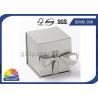 China Logo Printed Jewelry Gift Box with Ribbon Closure , Rigid Cardboard Paper Gift Box wholesale