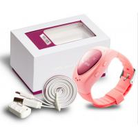 Waterproof Pink Kids GSM GPS Tracker Watch Real Time Tracking Manufactures