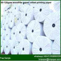 China 60gsm 70gsm 80gsm woodfree offset printing paper wholesale