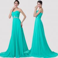 China Custom Bead Chiffon Floor Length Long Evening Dress For Formal Cocktail Party wholesale