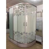 China Simple Maple Leaf Shower Cabin With Tray , Bathroom Shower Cubicles wholesale
