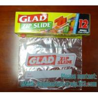 China Glad Zipper Food Bags, Microwave Bags, Slider Bags, School Lunch Pouch, Slider grip bags on sale