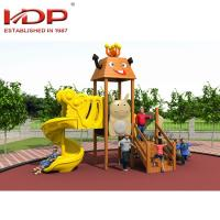China Unique Wooden Playground Equipment For Children , Wooden Play Area With Slide wholesale