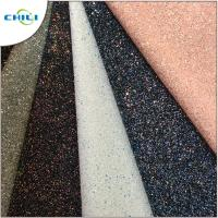 Buy cheap Grade 3 Glitter Leather Fabric Style Mixed Attractive High Brightness from wholesalers