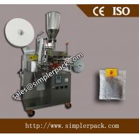 China Single Serving Filter Paper Turmeric Tea Bag Packing Machine with Thread and Tag on sale