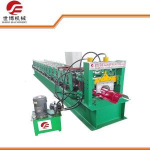 China 4KW 380V Sheet Ridge Cap Roll Forming Machine, Gutter Roll Forming Machine wholesale