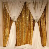China Symmetrical Sequin Photo Backdrop , Multi Color Sequin Fabric Seamless wholesale