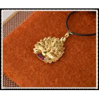 China Peafowl Pendant Necklace With 999.9 Percent Gold Foil Inside , 24K Gold Plated Jewelry For Girlfriend on sale