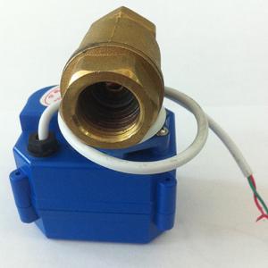 China Motorized 2 Way Brass Ball Valve for Flow Regulating wholesale
