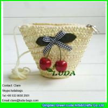 China LDMC-017 strawberry clutch bag,natural wheat straw handbag, zipper beach bag wholesale