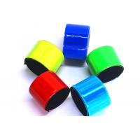 China Non Toxic PVC Reflective Slap Bracelets Comfortable Fit With Free Carrying Pouch wholesale