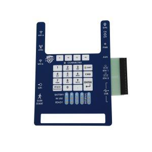 China Custom Tactile Single Membrane Panel Switch Made PC Gloss Plastic Key wholesale
