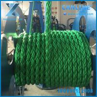 8 Strand green Polypropylene danline rope in stock Manufactures