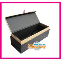 China Custom PVC, PP Rigid Paper / Cardboard / Wooden Offset, UV Printing Wine Bottle Packaging Box wholesale