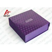 China UV Varnish Automatic Purple Gift Foldable Paper Boxes With Lids wholesale