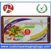 China Laminated Instant Noodles Food Custom Printed Plastic Bags 3 Sides Heat Sealing on sale