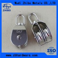 China High quality Stainless steel double/single pulley,rope pulley blocks wholesale