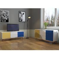 China Blue / Yellow / White High Gloss Finishing Sideboard With E1 Board and 1.5 Meters wholesale