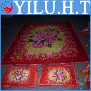 China high quality jacquard velvet pocket bed cover wholesale