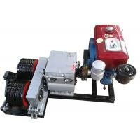Cable Winch Puller 5 Ton Diesel Engine Powered Double Drum Winch Manufactures