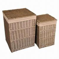 China Wicker laundry hampers/baskets, eco-friendly, various sizes and styles are available wholesale