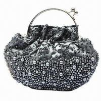 China Beaded Bag, Imitation Pearls Placed with Both Sides, Suitable for Clutching wholesale