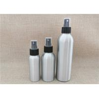 China Silver Color Aluminum Cosmetic Bottles For Cosmetic Packaging Custom Size wholesale